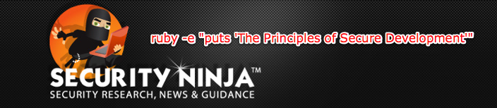 The Security Ninja Presents - The principles of Secure Development